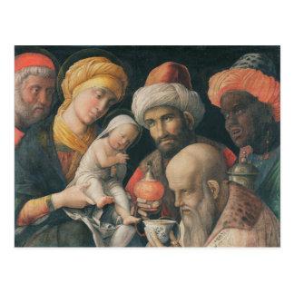 Adoración de unos de los reyes magos, c.1495-1505 tarjeta postal