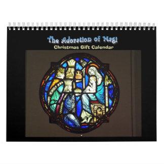 Adoración de unos de los reyes magos - calendario