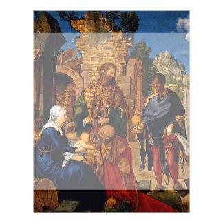 """Adoración de unos de los reyes magos de Albrecht Folleto 8.5"""" X 11"""""""