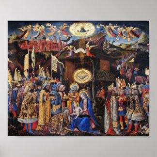 Adoración de unos de los reyes magos de Antonio Vi Impresiones