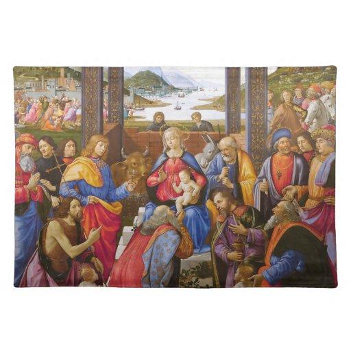Adoración de unos de los reyes magos de Domenico G Mantel Individual
