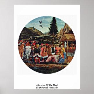Adoración de unos de los reyes magos de Domenico V Impresiones