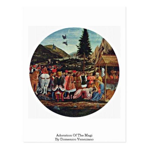Adoración de unos de los reyes magos de Domenico V Postal