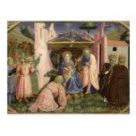 Adoración de unos de los reyes magos, de la postal