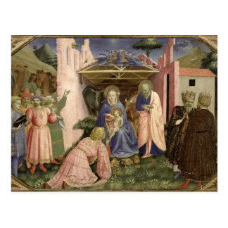 Adoración de unos de los reyes magos, de la tarjeta postal