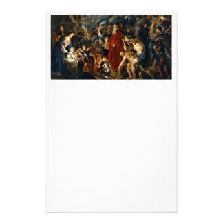 """Adoración de unos de los reyes magos de Rubens Folleto 5.5"""" X 8.5"""""""
