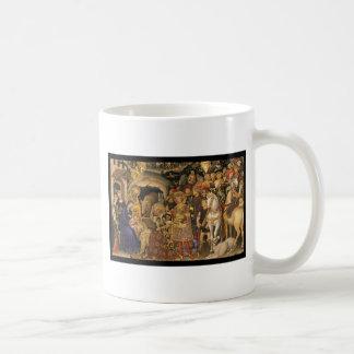Adoración de unos de los reyes magos del siglo XIV Taza De Café
