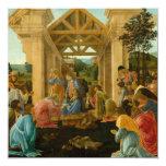 Adoración de unos de los reyes magos invitación 13,3 cm x 13,3cm