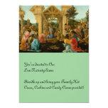Adoración de unos de los reyes magos invitación 12,7 x 17,8 cm