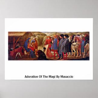 Adoración de unos de los reyes magos por Masaccio Impresiones