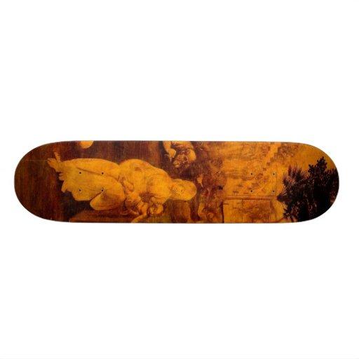 Adoración de unos de los reyes magos skateboards
