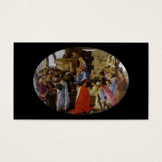 Adoración de unos de los reyes magos tarjetas de visita