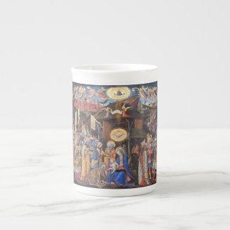 Adoración de unos de los reyes magos taza de porcelana