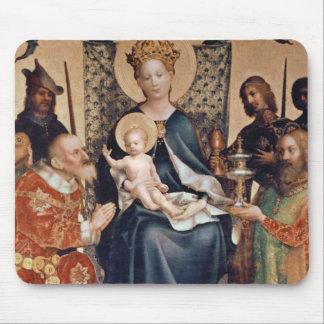 Adoración del altarpiece de unos de los reyes mago alfombrilla de ratón