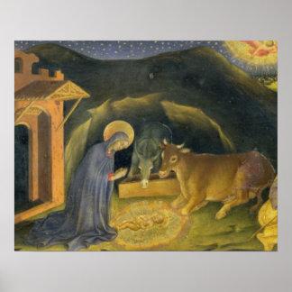 Adoración del Altarpiece de unos de los reyes mago Póster