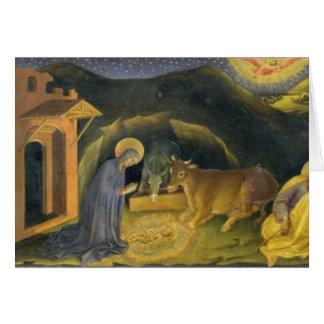 Adoración del Altarpiece de unos de los reyes mago Tarjeta De Felicitación