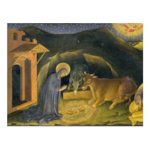 Adoración del Altarpiece de unos de los reyes mago Tarjeta Postal