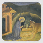 Adoración del Altarpiece de unos de los reyes Colcomanias Cuadradass