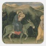 Adoración del Altarpiece de unos de los reyes Pegatina Cuadrada