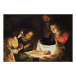Adoración del bebé, c.1620 impresiones