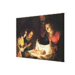 Adoración del bebé, c.1620 impresiones en lona