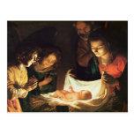 Adoración del bebé, c.1620 postal
