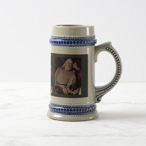 Adoración del detalle de unos de los reyes magos p tazas de café