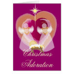 Adoración del navidad - modificada para requisitos tarjetón