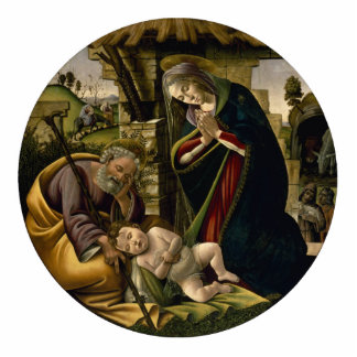 Adoración del niño de Cristo por Botticelli Escultura Fotográfica