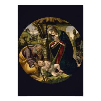 Adoración del niño de Cristo por Botticelli Invitación