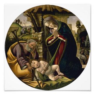 Adoración del niño de Cristo por Botticelli Impresiones Fotográficas