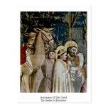 Adoración del niño de Giotto Di Bondone Tarjetas Postales