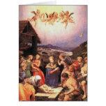 Adoración - pastores y ángeles - Bronzino Tarjetas
