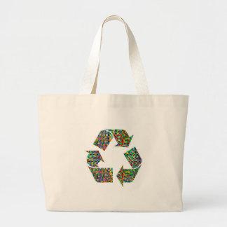 Adoramos reciclamos a campeones bolsa tela grande