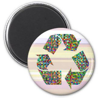 Adoramos reciclamos a campeones imán redondo 5 cm