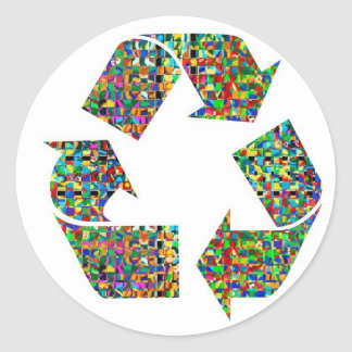 Adoramos reciclamos a campeones pegatina redonda
