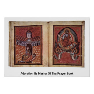 Adoration By Master Of The Prayer Book Poster