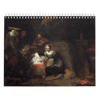 Adoration by the Shepherds by Samuel Hoogstraten Wall Calendars