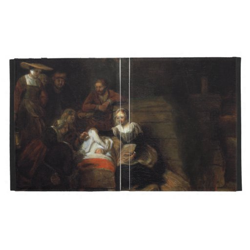 Adoration by the Shepherds by Samuel Hoogstraten iPad Folio Cover