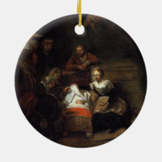 Adoration by the Shepherds by Samuel Hoogstraten Ceramic Ornament