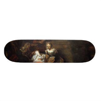 Adoration by the Shepherds by Samuel Hoogstraten Skate Deck