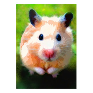 Adoration (Hamster) ACEO Art Trading Cards Large Business Card
