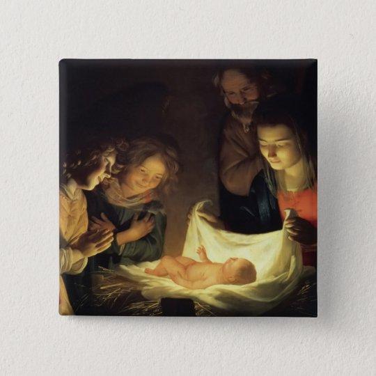 Adoration of Child Adorazion del Bambino Button