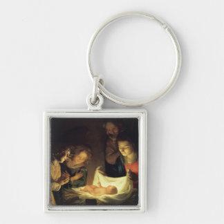 Adoration of Child Adorazion del Bambino Keychain