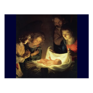 Adoration of Child Adorazion del Bambino Postcard