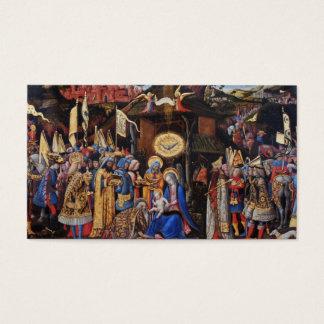 Adoration of Magi by Antonio Vivarino Business Card