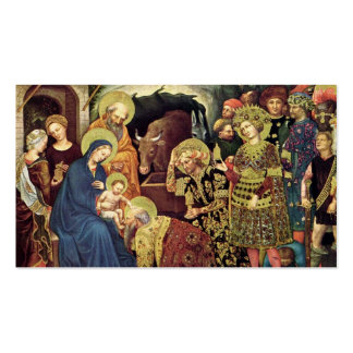 Adoration of  Magi (c1370-1427) Magi in Adoration Double-Sided Standard Business Cards (Pack Of 100)