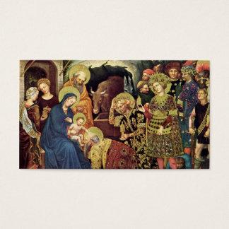 Adoration of  Magi (c1370-1427) Magi in Adoration Business Card