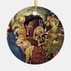 Adoration Of  Magi (c1370-1427) Magi In Adoration Ceramic Ornament at Zazzle