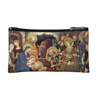 Adoration of  Magi (c1370-1427) Magi in Adoration Cosmetic Bag